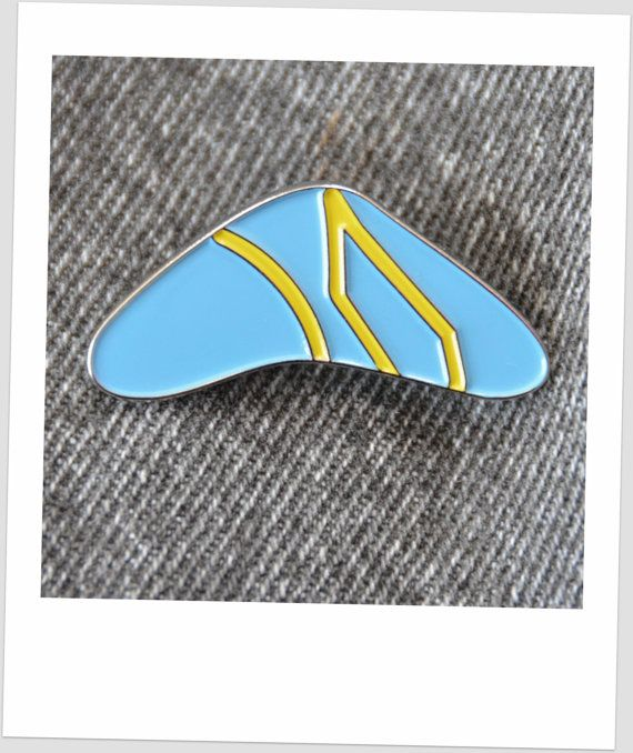 Back to the Future Marty Boomerang Pin by AMFXCreations.