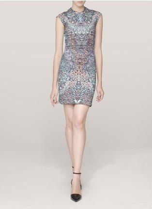 McQ Alexander McQueen - Feather-print dress | Multi-colour Cocktail Dresses