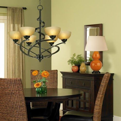 23 Dining Room Chandelier Designs Decorating Ideas: Transitional Style Dining Room Chandelier Ideas