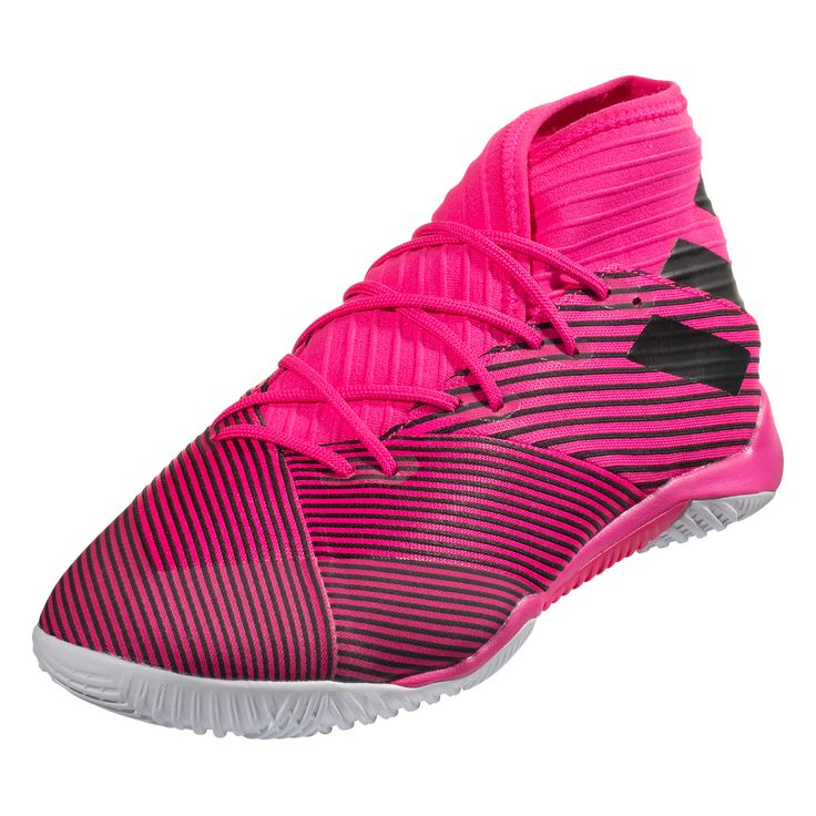 adidas Nemeziz 19.3 IN Indoor Soccer Shoe Shock Pink/White/Black-6.5