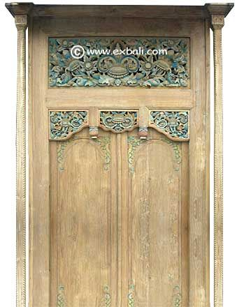 Bali doors made from recycled teak