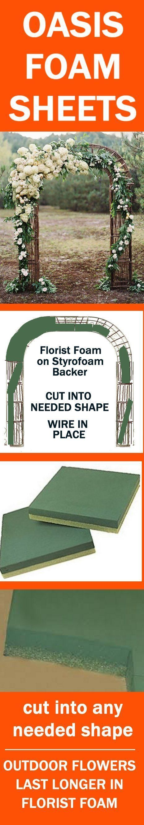 Wedding Arch Flowers - Foam Cages for Arch Flowers Learn how to make bridal bouquets, wedding corsages, boutonnieres, centerpieces, church and outdoor wedding decorations. Buy discount fresh flowers and florist supplies.