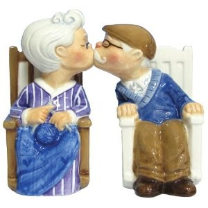 Westland Giftware Mwah, Magnetic Rocking Chair Couple Salt And Pepper Shaker  Set, These Cute Shakers Have A Magnetic Insert To Keep Them Together.