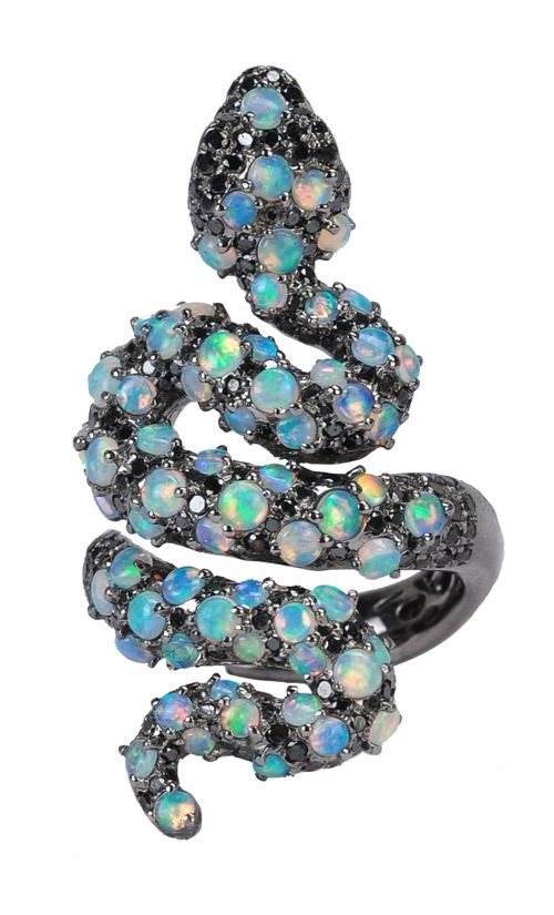 Wendy Yue Opal Snake Ring.  I'm not usually one for snakes, but this just looks so cool