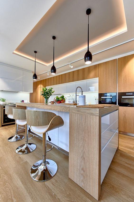 Cocinas modernas tipos de cocinas y como decorarlas for Guardas para cocina modernas