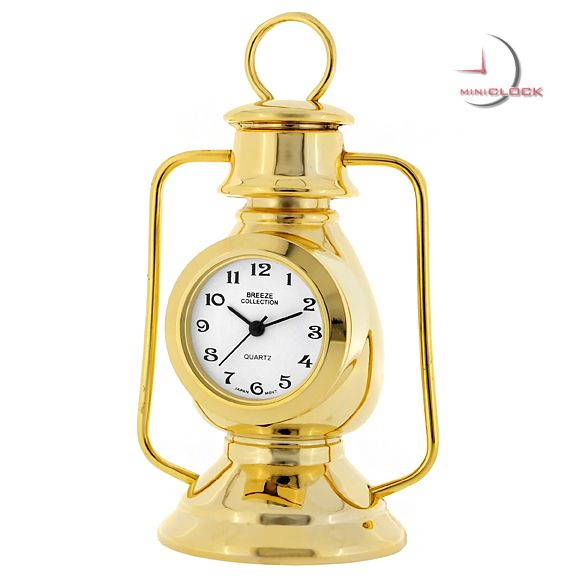 Mini Clock, Great Vintage Gold STORM LANTERN