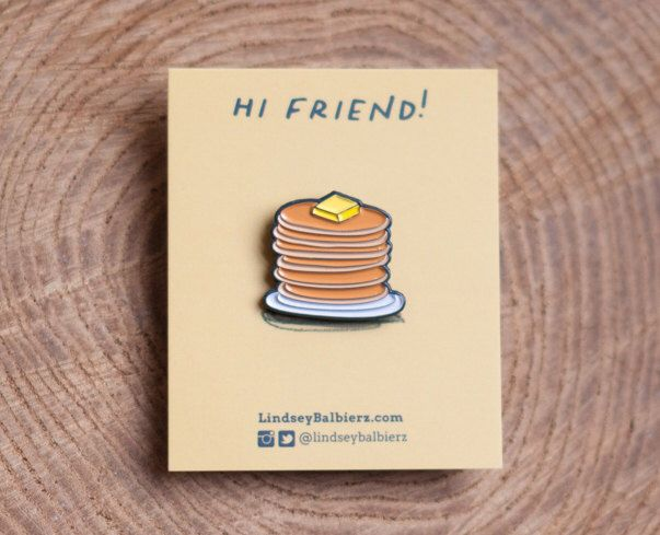 Pancake Stack Enamel Pin by LindseyBalbierz on Etsy