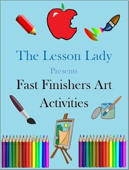 50 Creative Art Activities! The packet of 50 printable activities is perfect for early or fast finishers, for use as enrichment. Available for purchase.