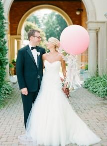 Love Balloon Props! Bride + Groom | On SMP: http://www.stylemepretty.com/2013/11/20/a-maryland-estate-wedding-from-jodi-miller-photography | Jodi Miller Photography