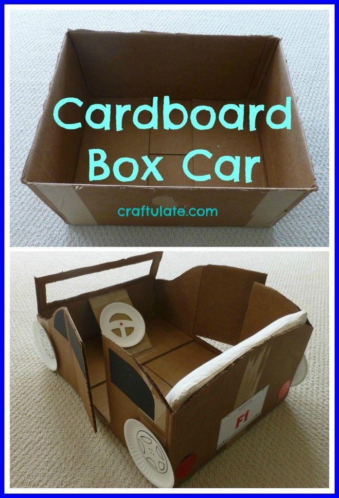 cardboard box car craftulate