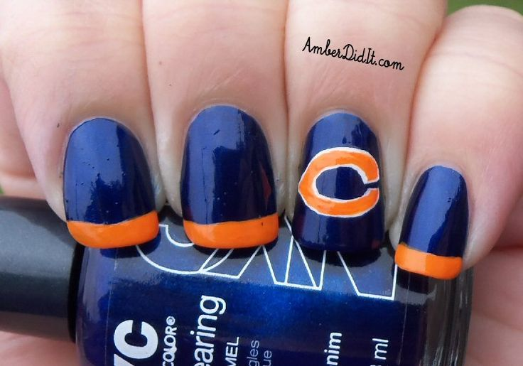 Amber did it!: NFL Nail Art Series #5 ~ Chicago Bears