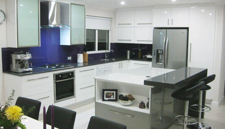 A customer's contemporary kitchen.
