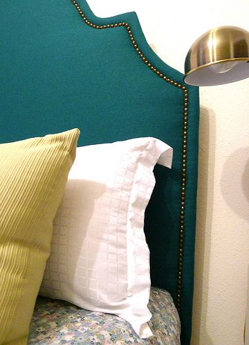 DIY Upholstered headboard, matching twin headboards for the girls room