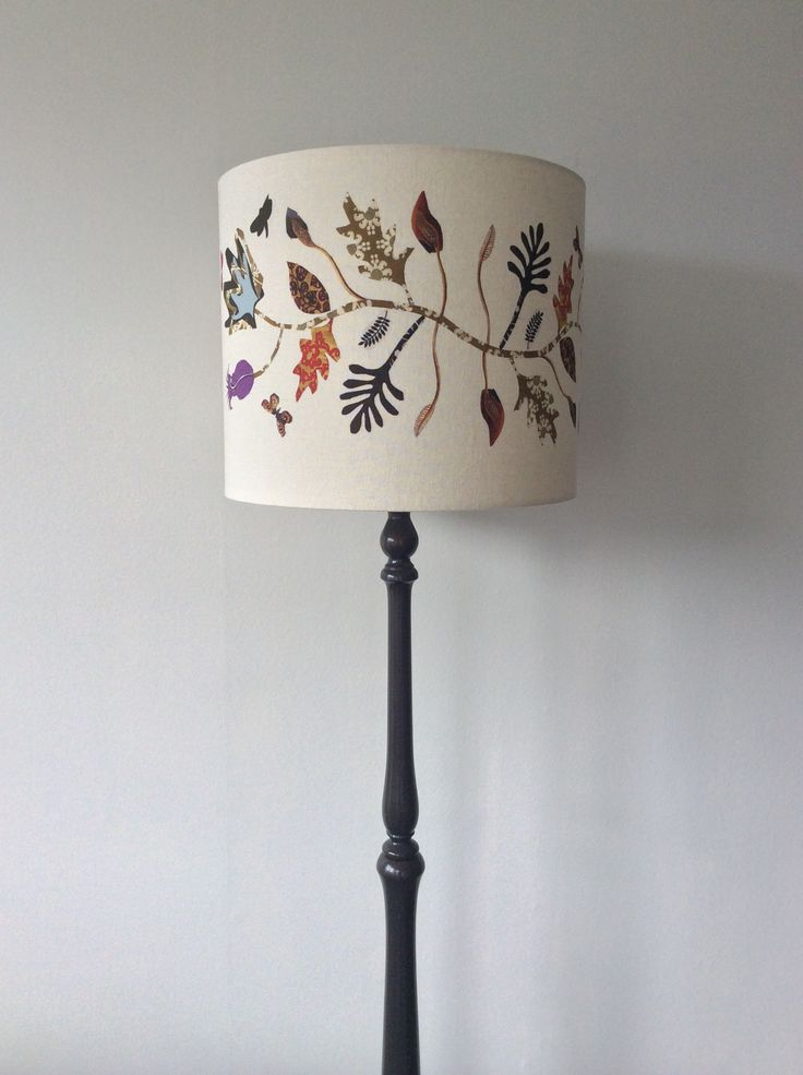 The beautiful seaweed design printed in hemp and organic cotton. Made into a lampshade.   #hemp #organiccotton #ecolampshades