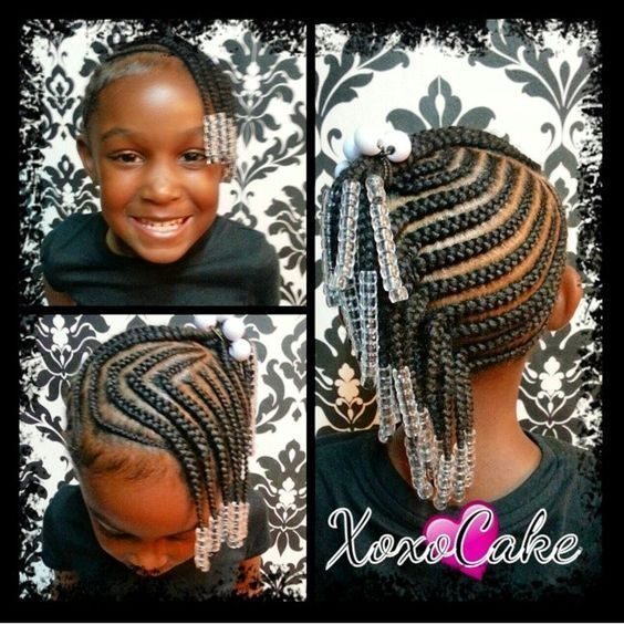Kids Braided Hairstyles With Beads Little Black Girl Braid