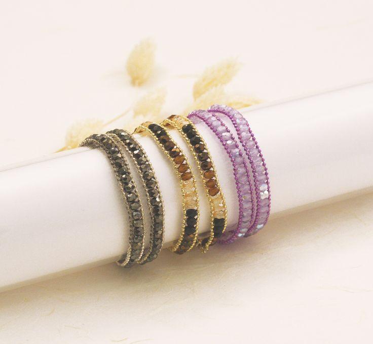 Bracciale con mezzo cristallo e catena microball a palline, facile e d'effetto, da provare! Bracelet beaded with crystals and ball chain, simple and impressive idea!