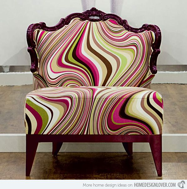 15 Pretty Vintage Chairs and Armchairs741 best Accent Chairs images on Pinterest   Accent chairs  Barrel  . Funky Chairs For Living Room. Home Design Ideas