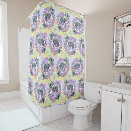 Sacred Elephant Shower Curtain -nature diy customize sprecial design
