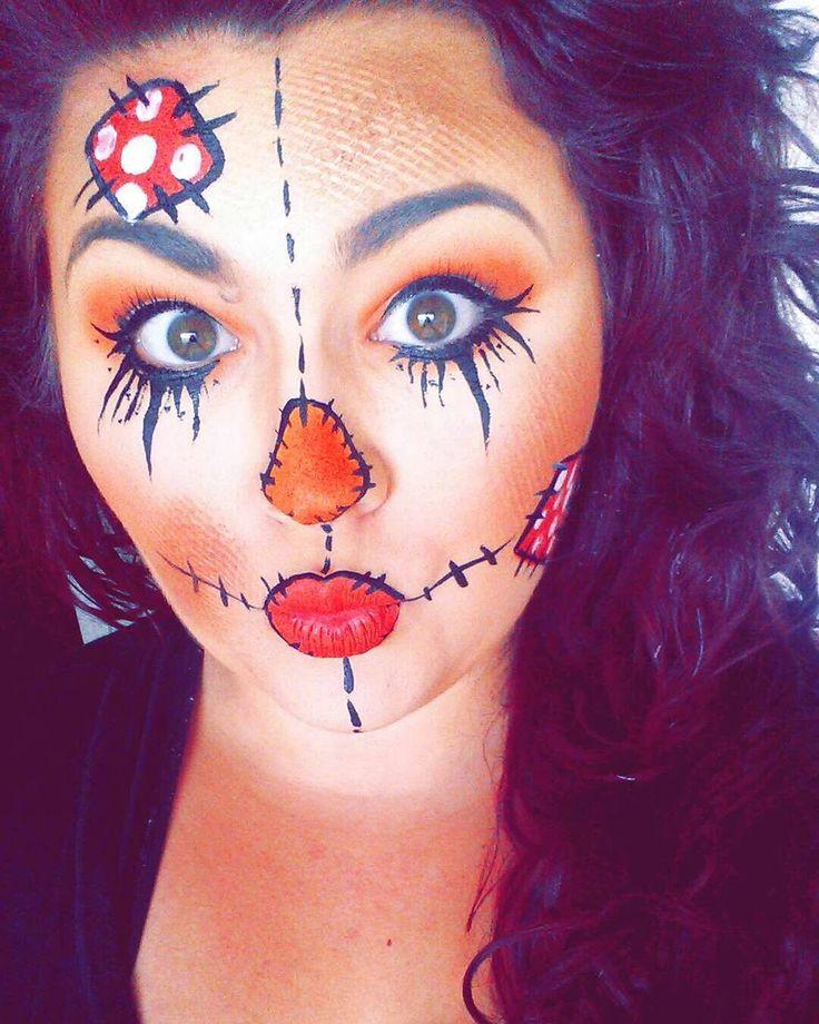 ❤#halloween #classic #scarecrow  #facepaint