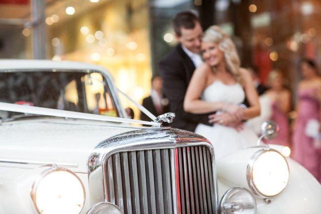 Parisian Dream Wedding | The Bride's Tree - Sunshine Coast Wedding. Classic car.