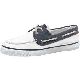 Sperry Top Sider Womens Bahama 2 Eye Slip On Shoes White/Navy