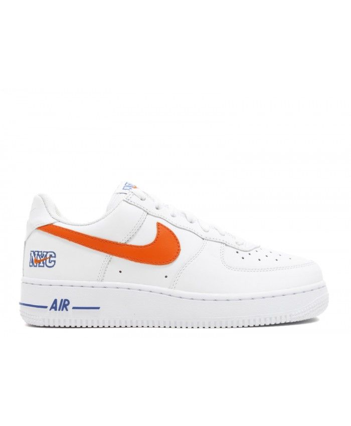 Air Force 1 Low Nyc Hs Nyc White, Safety Orange- Game Royal 722241-