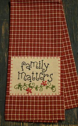 Allison's Place==Dish Towel Family Matters
