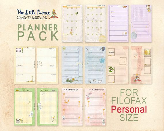 Printable The little Prince Pack PERSONAL size von lucyWONDERLAND