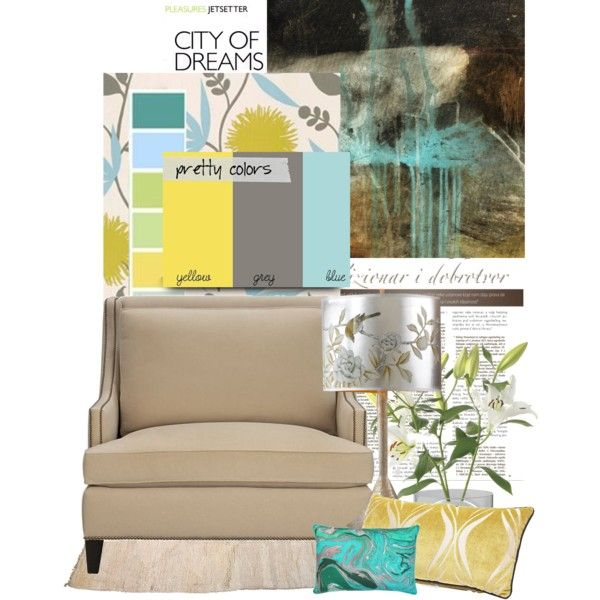 "Gray And Teal Living Room By Jurzychic On Polyvore: ""room Design Inspiration"" By The-dry-oyster On Polyvore"