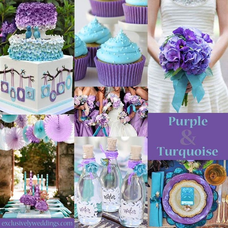 turquoise and silver wedding decorations | Please click the images below for the large, full-size view (opens in ...