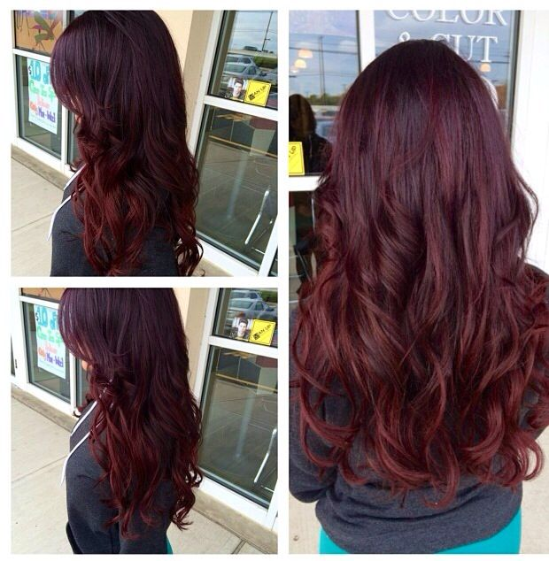 I want this hair color! #Ombre #Violet #Purple #Red