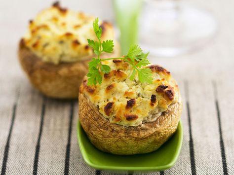 Découvrez la recette Champignons farcis au boursin sur cuisineactuelle.fr.