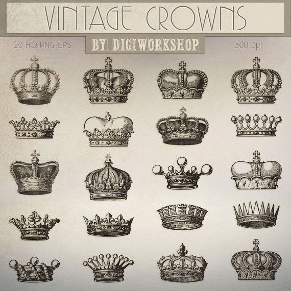 Hey, I found this really awesome Etsy listing at https://www.etsy.com/listing/223698271/crown-clip-art-vintage-crown-clipart
