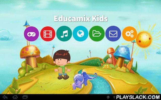 Educamix Kids  Android App - playslack.com , O Educamix Kids é um software voltado para o público infantil, na faixa etária de 3 a 10 anos, que oferece uma variedade de conteúdo para divertir e educar os pequeninos. O software oferece 4 ambientes virtuais diferentes onde é possível interagir com elementos que compõem esses mundos, além da possibilidade de selecionar avatares que representam a criança em um desses mundinhos virtuais. A criança pode assistir vídeos infantis, ouvir músicas…
