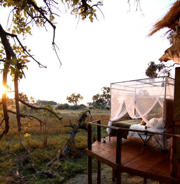 Baines Camp sleep out deck #Botswana