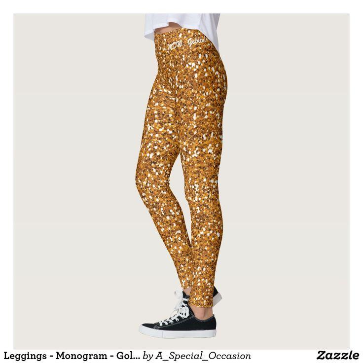 Leggings - Monogram - Golden!