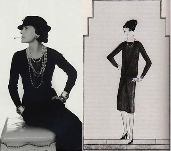 This is one of Coco Chanel's LBD's that inspired Calvin Klein's dress. The dress is not form fitting and is very simple yet elegant, just like Calvin Klein's. Marissa Y. 1/18/17