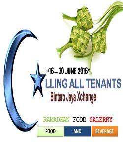 Ramadhan Food Gallery – Bintaro Jaya Xchange, 16 – 30 Juni 2016