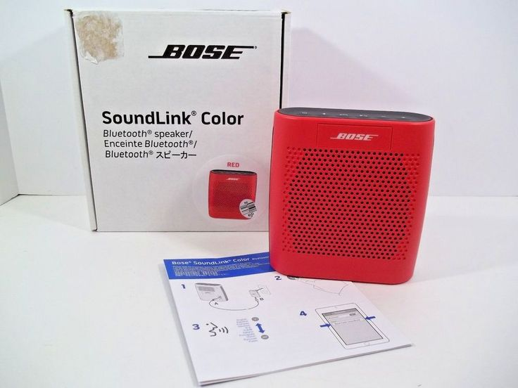 BOSE SoundLink Color Bluetooth Speaker w/Accessories - RED - NIB! #Bose