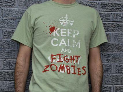 Fight ZombiesZombies Apocalypse, Calm Shirts, Zombies Shirts, Andfight Zombies, Calm Andfight, Keep Calm, Zombies Products, Zombies T Shirts, Fight Zombies Tshirt