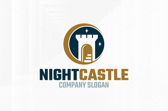 Night Castle Logo Template by LiveAtTheBBQ on @creativemarket