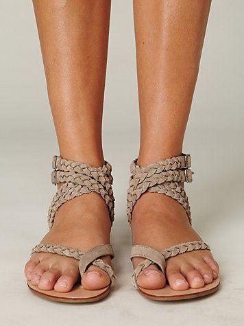➳➳➳☮American Hippie Bohemian Boho Bohéme Feathers Gypsy Spirit Bizu Baroque Tati Tati Style - Braided Sandals