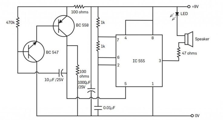 ultrasonic insect repellent circuit diagram
