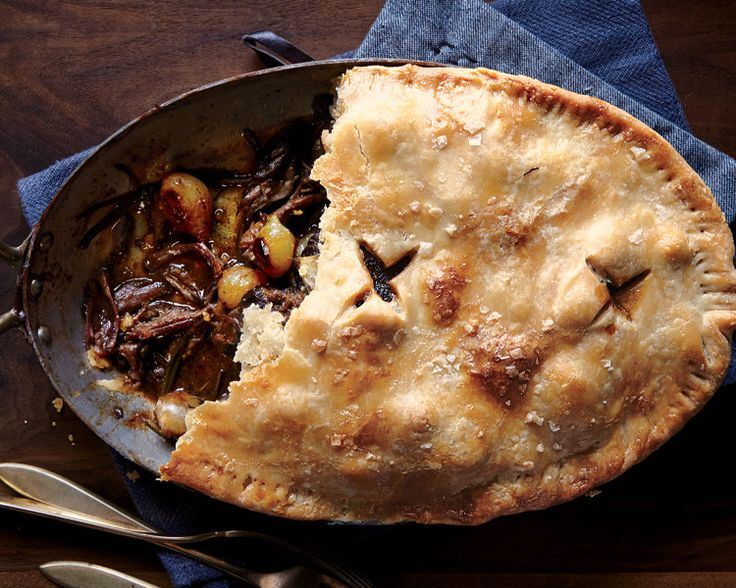 Short rib pot pie. Shortening is the secret to extra-flaky pie crust, but nothing compares to the flavor of butter. Use both, as in this super-luxe beef pie, and you're golden.