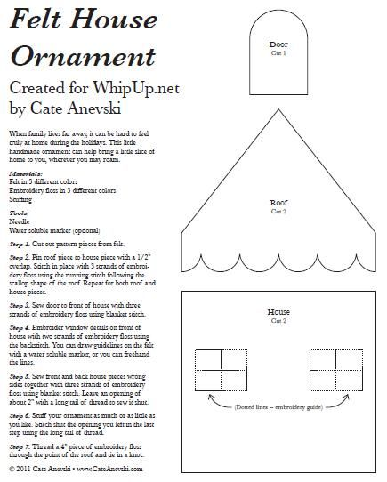 felt house pattern. ATELIER CHERRY: feltro