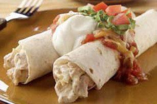 Enchiladas au poulet et à la crème sure