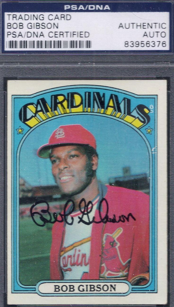 1972 topps bob gibson autograph bob gibson baseball