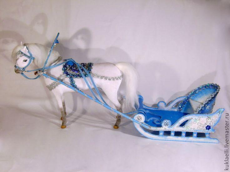 Купить Дед Мороз и Снегурочка едут на праздник! - подарок на новый год, новогодние куклы, дед мороз