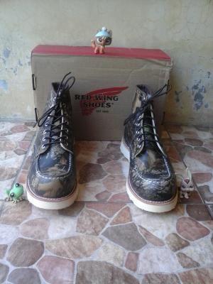 Sepatu Red Wing 8884 MocToe (Mossy Oak) Size 10D