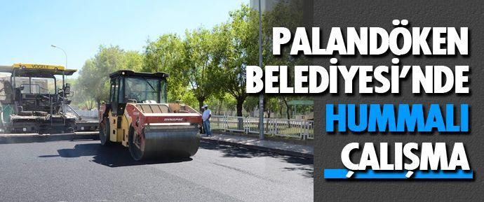 Erzurum Palandöken Belediyesi şehrin muhtelif yerlerinde sıcak asfalt çalışmaları ve kilit parke çalışmalarını aralıksız sürdürüyor.